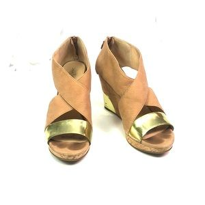 """Cole Haan Open Toe """"Irving"""" Wedges Size 9.5"""